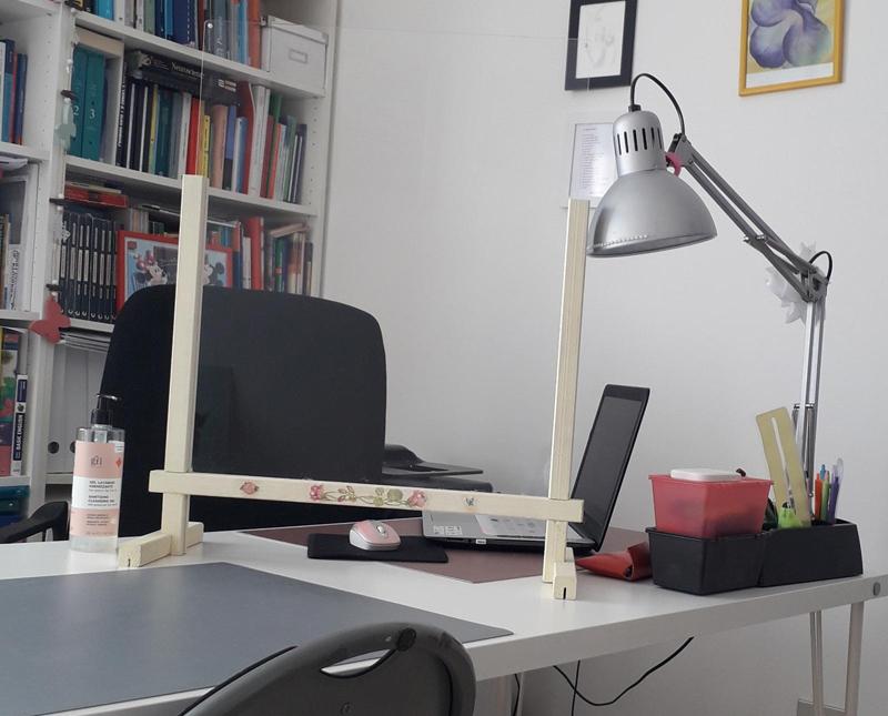studio tutoring con plexiglass